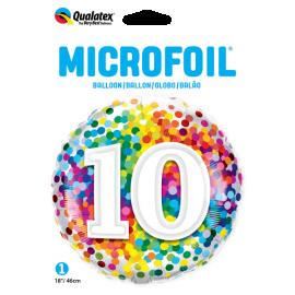 """18"""" Rainbow Confetti 10 (01ct) Minimo 3 unid"""