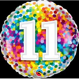 """18"""" Rainbow Confetti 11 (01ct) Minimo 3 unid"""