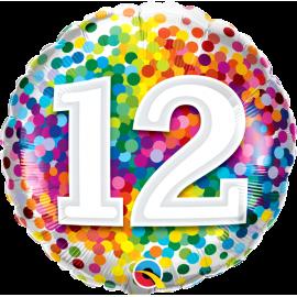 """18"""" Rainbow Confetti 12 (01ct) Minimo 3 unid"""