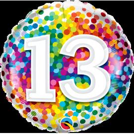 """18"""" Rainbow Confetti 13 (01ct) Minimo 3 unid"""