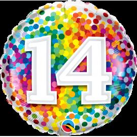 """18"""" Rainbow Confetti 14 (01ct) Minimo 3 unid"""