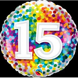"""18"""" Rainbow Confetti 15 (01ct) Minimo 3 unid"""