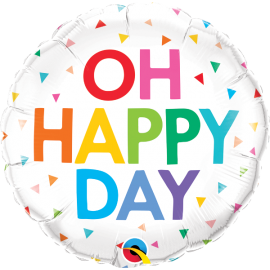 """18"""" Oh Happy Day Rainbow Confetti (01ct) Minimo 3 unid"""