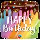 "18"" Birthday Rainbow Drip Cake (01ct) Minimo 3 unid"