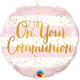 """18"""" On Your Communion Pink Stripes (01ct) Minimo 3 unid"""
