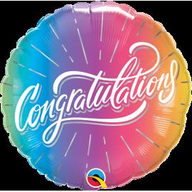 "18"" Congratulations Vibrant Ombré (01ct) Minimo 3 unid"