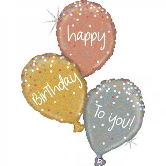 "40"" B-day Balloons Glitter Holog (01ct) Minimo 3 unid"
