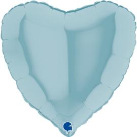"""04"""" Corazón Pastel Blue (01ct) Minimo 10 Unid"""