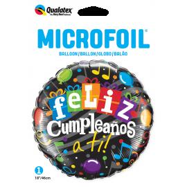 "18"" Feliz Cumpleaños a ti !! (01ct) Minimo 3 Unid"