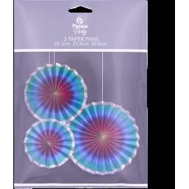 Paper Fans Rainbow Ombre 3ct