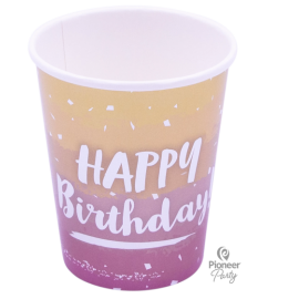 Cups Papel Rose Gold Ombre (08ct)