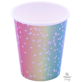 Cups Papel Rainbow Ombre (08ct)