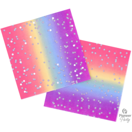 Servilletas Rainbow Ombre 16ct)