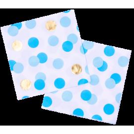 Servilletas Paper Three Blue & Gold (16ct)
