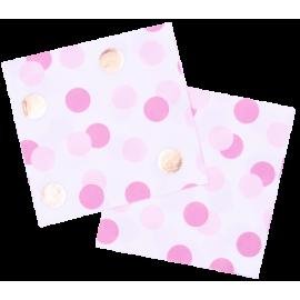 Servilletas Paper Three Pink & Gold (16ct)