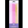 Pajitas- Cañitas Paper Staws Pink & Gold 19cm (24ct)
