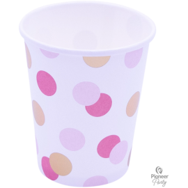 Cups Papel Pink & Gold (08ct)