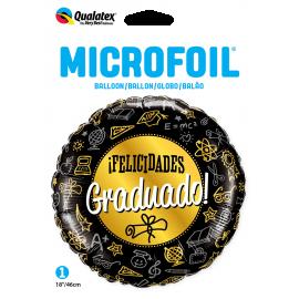 """18"""" Rnd Felicidades Graduado (01ct)"""