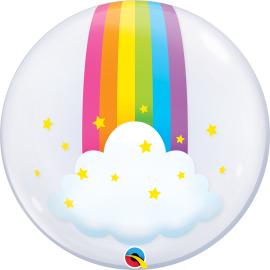 "24"" Deco Bubble Rainbow Clouds"