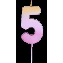 5 Vela Rose Gold Ombre (01ct) Minimo 2 unid