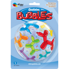 "22"" Bubble Balloon Dogs (01 ct) (Minimo 3 unid.)"