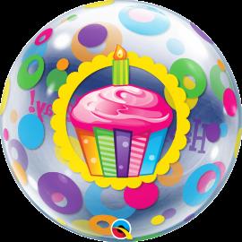 """22"""" Single Bubble (1Ct) Bday Cupcake & Do (Minimo 3 Unid.)"""
