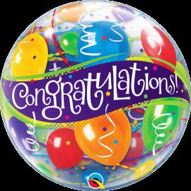 """22"""" Single Bubble (01Ct) Congratulations B (Minimo 3 Unid.)"""