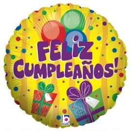 """18"""" S.P Feliz Cumpleaños Regalos (1Ct) (Minimo 3 Unid.)"""