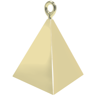 Pyramid balloon Weight Soft Gold (Contrapesos) (Mínimo 12 Unid.)