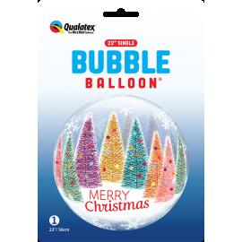 "22"" Single Bubble (01Ct) Christmas trees & Snowflakes (Mínimo 3 Unid.)"