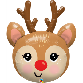 """35"""" Shape Red - Nosed Reindeer Head (01Ct) (Mínimo 3 Unid.)"""