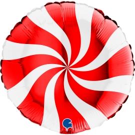 "18"" Swirly White - Red (Mínimo 3 unid.)"