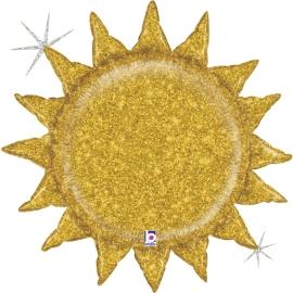 "30"" Gold Glitter Sun Holographic (01Ct) (Mínimo 3 Unid.)"