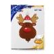 "34"" Smiley Reindeer Head (01Ct) (Mínimo 3 Unid.)"