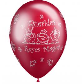 """12"""" Queridos Reyes Magos Rojo, Verde y Oro (Bolsa 50 unid.)"""