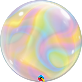 "22"" Single Bubble (01Ct) Iridescent Swirls (Mínimo 3 Unid.)"