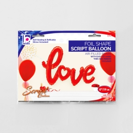 """47"""" Love Red Script (Air- Filled) (Minimo 3 Unid)"""