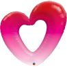 """42"""" Shape Pink Ombre Heart (01 Ct) (Mínimo 3 Unid.)"""