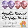 """12"""" Felicidades Mamá M.D (50 unid)"""