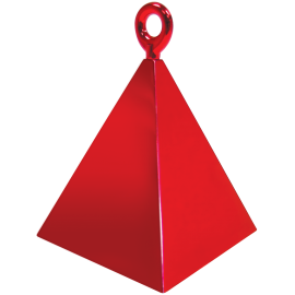 Pyramid Balloon Weight (01ct) Red