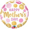 """18"""" Mother´s Day Pink Gold Dots (Minimo 3 Unid)"""