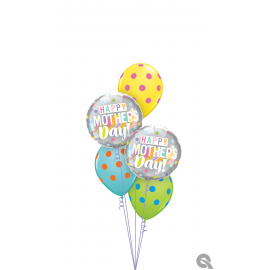 """18"""" Mother´s Day Big Pastel Dots (Minimo 3 Unid)"""
