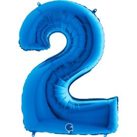 "40"" Numero 2 Blue (Helio y Aire) (1Ct.) 101 Cm."