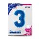 "40"" Numero 3 Blue (Helio y Aire) (1Ct.) 101 Cm."