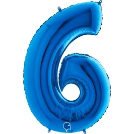 "40"" Numero 6 Blue (Helio y Aire) (1Ct.) 101 Cm."