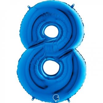 "40"" Numero 8 Blue (Helio y Aire) (1Ct.) 101 Cm."