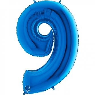 "40"" Numero 9 Blue (Helio y Aire) (1Ct.) 101 Cm."
