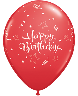 Birthday Shining Star Red