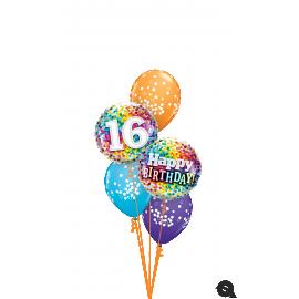 """18"""" Rainbow Confetti 16 (01ct) Minimo 3 unid"""