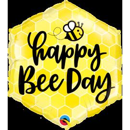 "20"" Hexagon Happy Bee Day (01ct)"